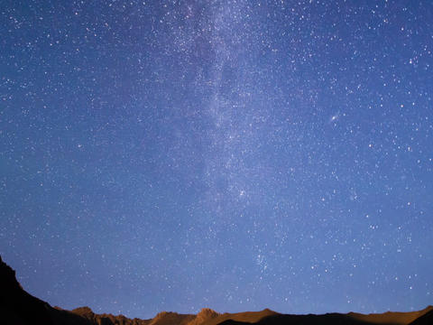 Milky Way is far off. Time Lapse. 640x480 Live Action
