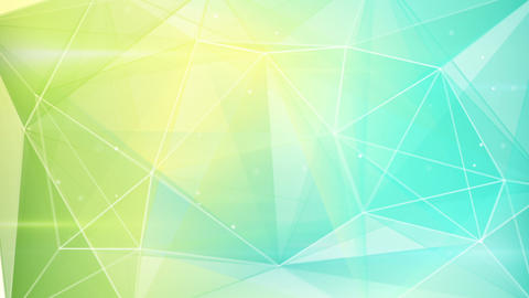 abstract triangle geometrical green cyan backgroun Animation