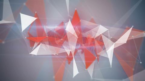 orange network structures flying loopable backgrou Animation