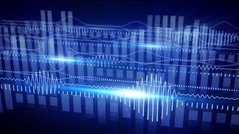 blue equalizer audio waveform loopable background Animation