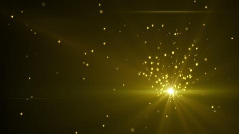 gold glittering dust seamless loop CG動画素材