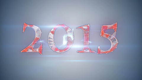 happy new year 2015 network mesh Animation