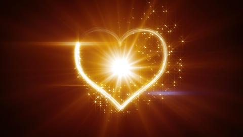 shiny heart shape yellow light streaks loopable Animation