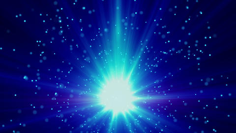 blue light and particles loop background Animation