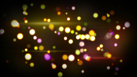 colorful glowing circle bokeh lights loopable back Animation