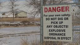 HD2009-3-2-17 danger sign ordinance Stock Video Footage