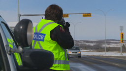 HD2009-3-2-19 police radar trap Stock Video Footage