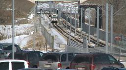 HD2009-3-2-25 LRT train fish creek Stock Video Footage