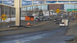 HD2009-3-2-27 traffic on Mcleod trail Stock Video Footage