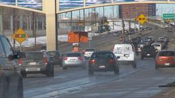 HD2009-3-2-33 traffic on Mcleod trail TL Stock Video Footage