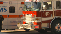 HD2009-3-2-35 ambulance and fire truck Stock Video Footage