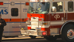HD2009-3-2-35 ambulance and fire truck Footage