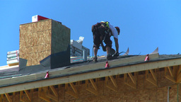 HD2009-5-1-1 Roofer Stock Video Footage