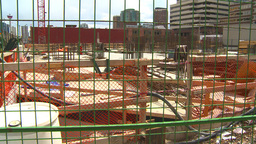 HD2009-5-1-3 abandoned condo const site Stock Video Footage