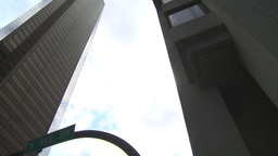 HD2009-5-1-5 skycraper spin Stock Video Footage