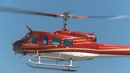 HD2009-5-1-19 huey hover empty sky Stock Video Footage