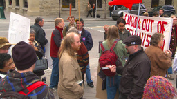 HD2009-5-1-23 Conda protest Stock Video Footage