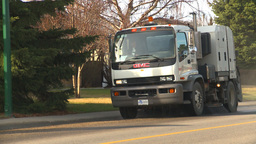 HD2009-5-2-3 street sweepers Stock Video Footage