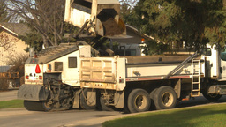 HD2009-5-2-5 street sweepers empties Stock Video Footage