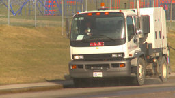 HD2009-5-2-7 street sweepers empties Stock Video Footage