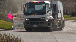HD2009-5-2-13 street sweepers Stock Video Footage