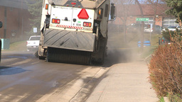 HD2009-5-2-15 street sweepers Stock Video Footage