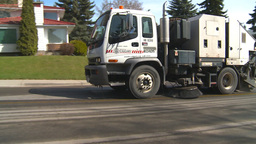 HD2009-5-2-17 street sweepers Stock Video Footage