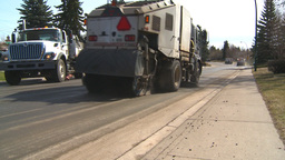 HD2009-5-2-19 street sweepers Stock Video Footage
