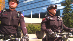 HD2009-5-6-1 bike cops Stock Video Footage