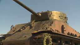 HD2009-5-6-3 sherman tank Stock Video Footage