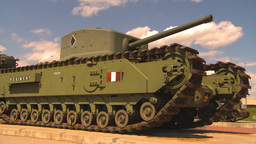 HD2009-5-6-5 churchill tank Stock Video Footage