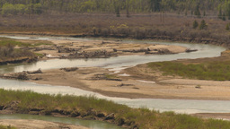 HD2009-5-6-11 Meandering River stock footage