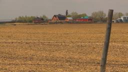 HD2009-5-6-13 heat over farm spring field Stock Video Footage