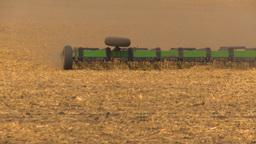 HD2009-5-6-15 tilling fields Stock Video Footage