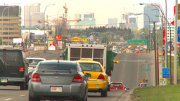 HD2009-5-6-31 suburb traffic cranes Stock Video Footage