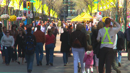 HD2009-5-7-3 busy people mall Stock Video Footage