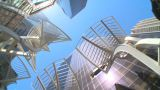 HD2009-5-7-5 Building Spin With Art stock footage