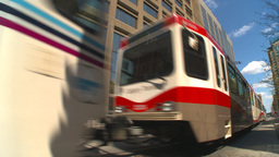 HD2009-5-7-11 LRT DT fish eye Stock Video Footage