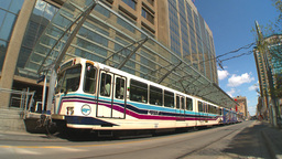 HD2009-5-7-13 LRT DT fish eye Stock Video Footage