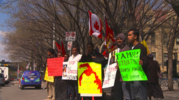 HD2009-5-7-15 Tamil protest Stock Video Footage