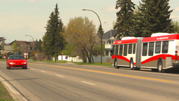 HD2009-5-7-19 articulated bus Stock Video Footage
