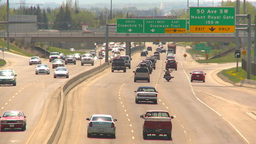 HD2009-5-7-25 freeway traffic Stock Video Footage