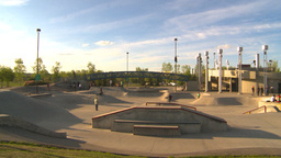 HD2009-5-10-11 skateboard park Stock Video Footage