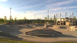 HD2009-5-10-11 skateboard park Stock Video Footage