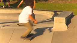 HD2009-5-10-13 skateboard park Stock Video Footage