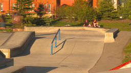 HD2009-5-10-15 skateboard park hispd Stock Video Footage
