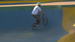 HD2009-5-10-17 BMX skateboard park Stock Video Footage
