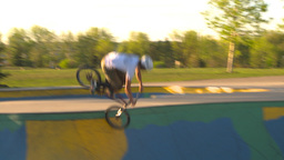 HD2009-5-10-17 BMX skateboard park Footage
