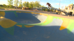 HD2009-5-10-19 BMX skateboard park Stock Video Footage