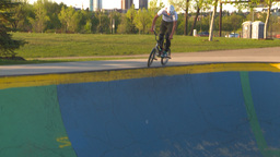 HD2009-5-10-21 BMX skateboard park Stock Video Footage